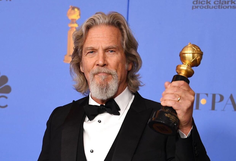 Jeff Bridges med æresprisen, Cecil B. DeMille-prisen, ved Golden Globe i 2019.