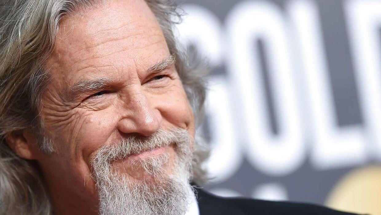 Den amerikanske skuespiller Jeff Bridges har fået konstateret kræft. Det skriver han selv på Twitter. Her er han fotograferet til Golden Globe i januar 2019. (Arkivfoto)