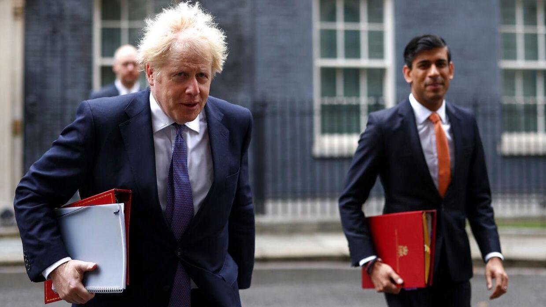 Premierminister Boris Johnson og finansminister Rishi Sunak tror ikke på de pessimistiske økonomiske beregninger for konsekvenserne af et brexit uden en aftale.