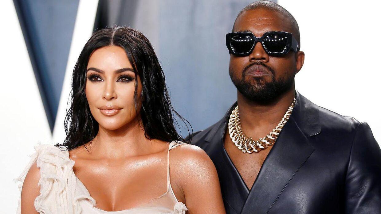 Kim Kardashian og hendes mand, Kanye West.