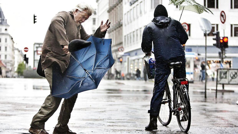 Et kraftigt blæsevejr er på vejr mod Danmark og rammer landet natten til torsdag. (Arkivfoto)