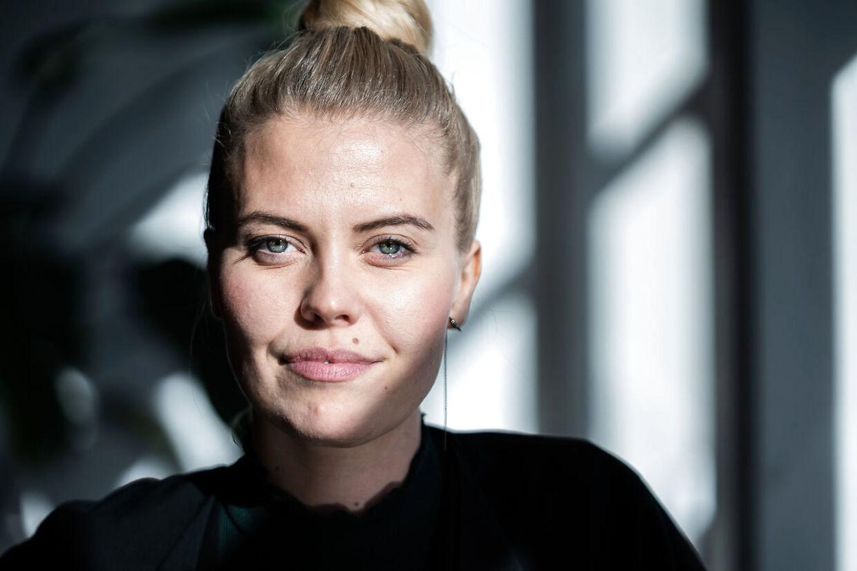 Anna Stokholm under pressemødet på ygeplejeskolen IIIi Valby, mandag 19. oktober 2020. (Foto: Emil Helms/Ritzau Scanpix)