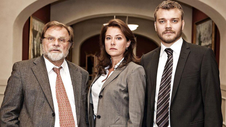 Lars Knutzon, Sidse Babett Knudsen og Pilou Asbæk da holdet bag 'Borgen' blev præsenteret første gang i forbindelse med sæson 1.