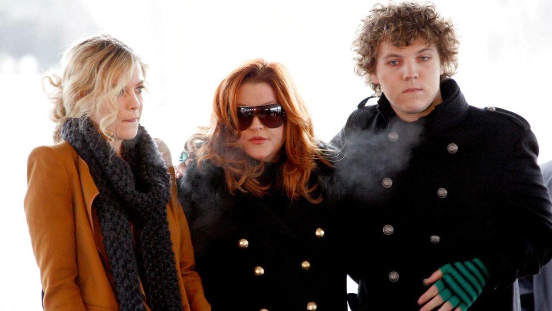 Lisa Marie Presley sammen med Riley og Benjamin Keough.