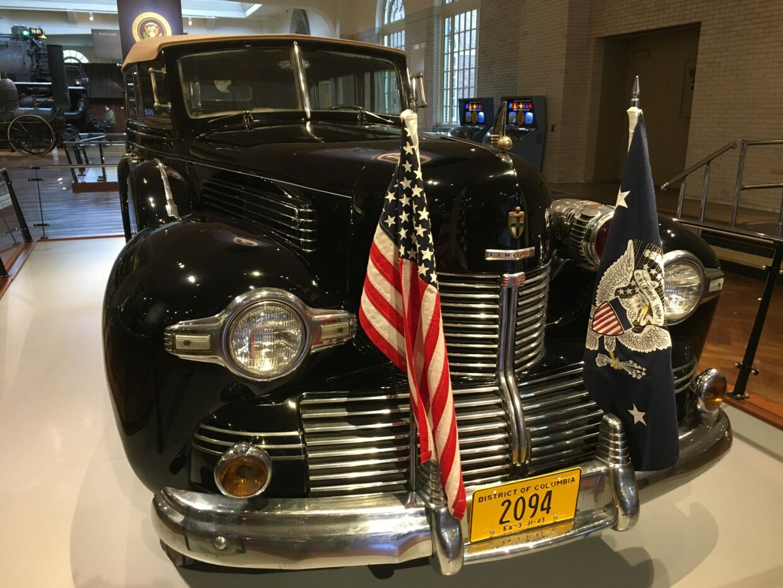 Franklin D. Roosevelts Lincoln 1939 fil kælenavnet 'Sunshine Special' – taget var nemlig sammenklappeligt.