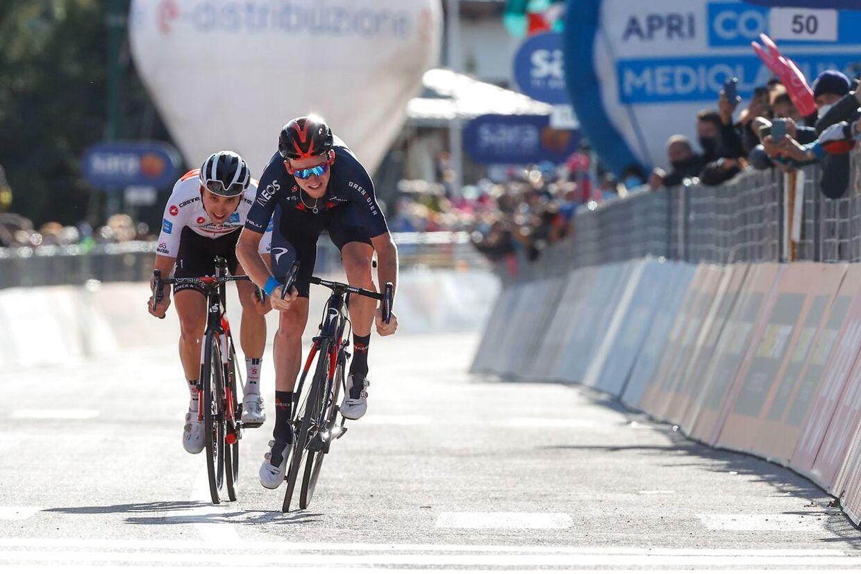 Tao Geoghegan Hart vandt sin anden etape i årets Giro d'Italia.