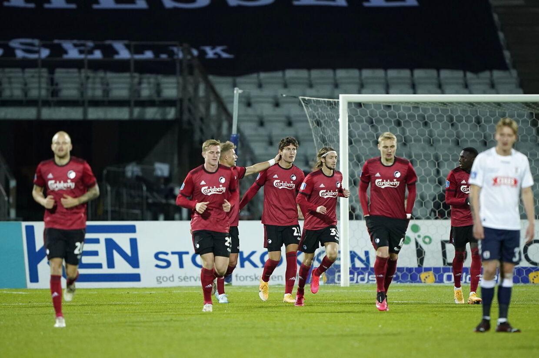 3F Superligakampen mellem AGF og FC København på Ceres Park i Aarhus , søndag den 25. oktober 2020.