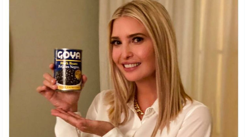 Ivanka Trump i en reklame for Goya-bønner.