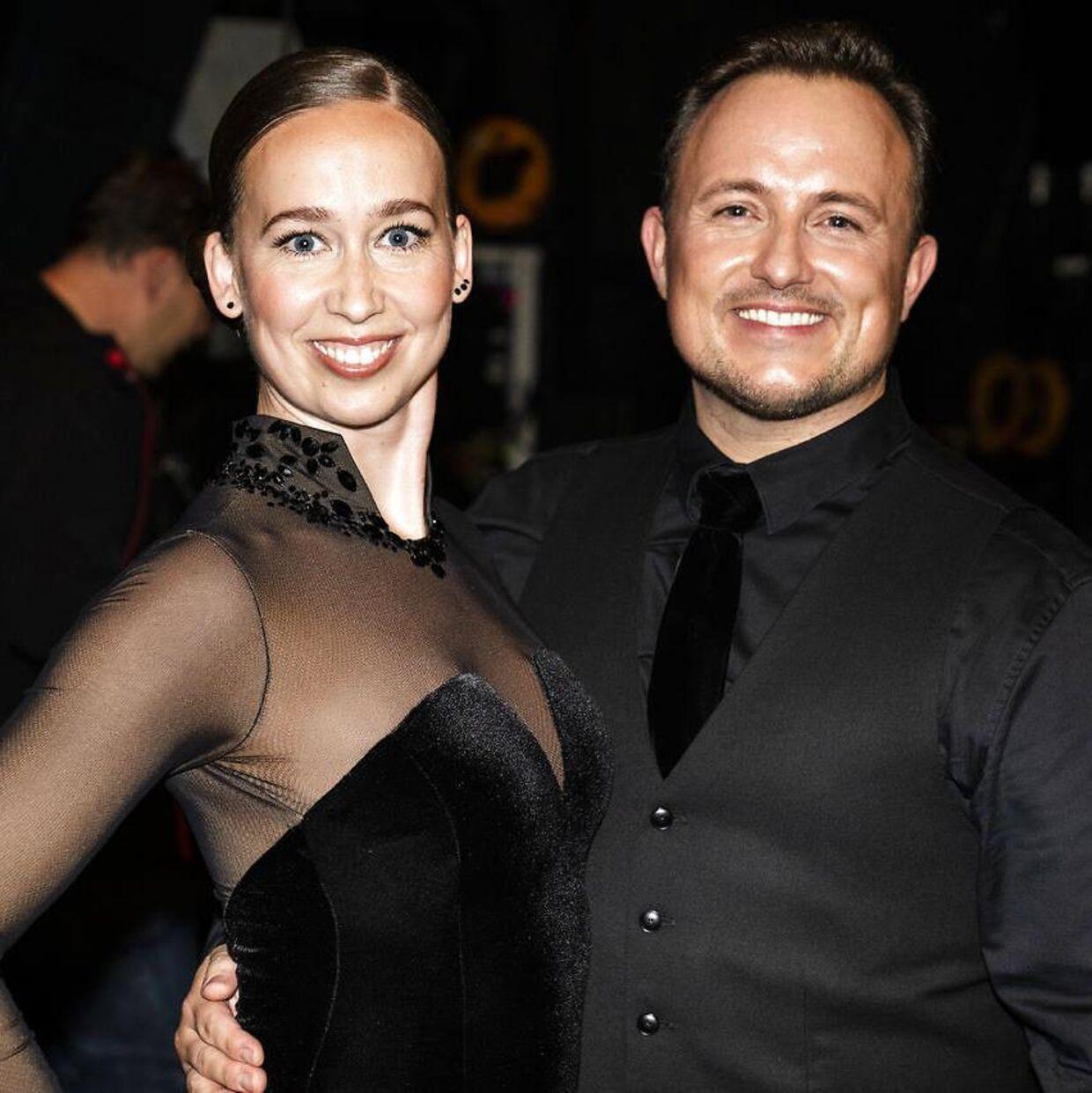 Skuespiller Merete Mærkedahl og Thomas Evers Poulsen under sæsonpremieren på 'Vild med dans'.