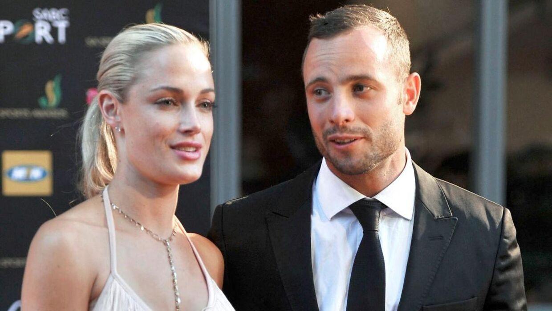 Oscar Pistorius og Reeva Steenkamp tilbage i 2012.