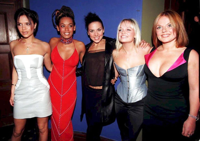 Her ses pigebandet Spice Girls, som Melanie C var med til at gøre til en verdensomspændende popsucces. Billedet er taget i bandets storhedstid.