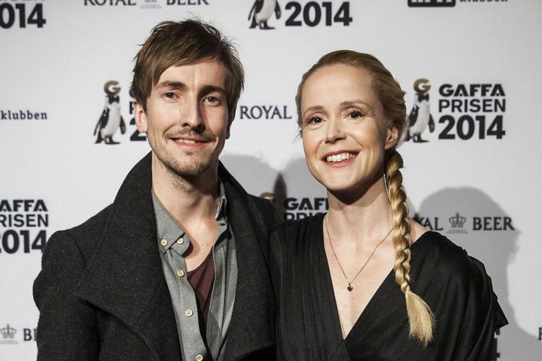 Tina Dickow med sin islandske mand, Helgi Jonsson.