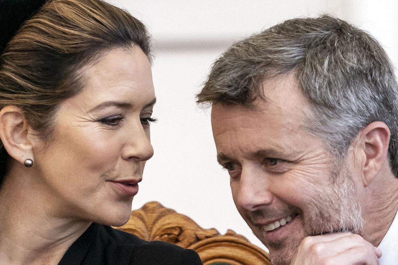 Kronprinsesse Mary og kronprins Frederik under Folketingets åbning på Christiansborg i oktober.