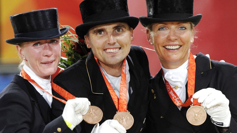 Det danske dressurlandshold vandt OL-bronze i 2008.