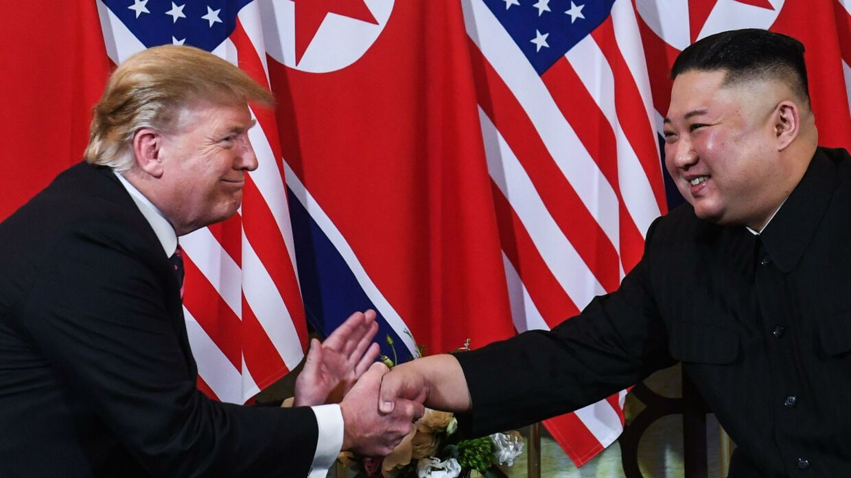 Donald Trump med Nordkoreas leder Kim Jong-un.