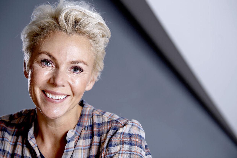 Lene Beier kalder sig selv 'grundglad', en der aldrig er sur. Præcis som på tv.