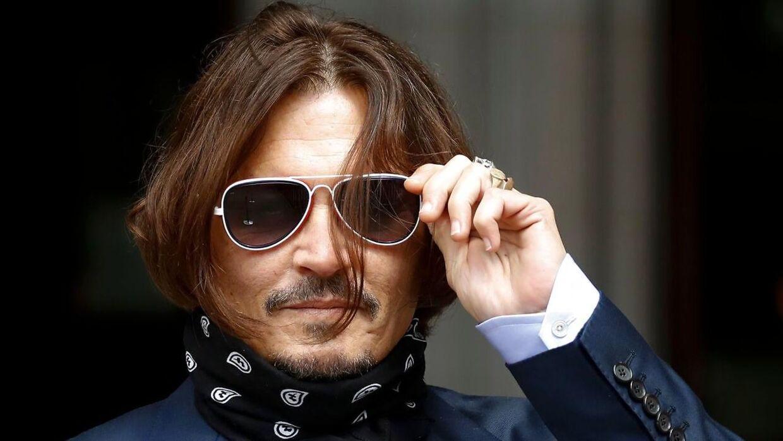 Johnny Depp her fotograferet ved retten ved en tidligere retsdag.