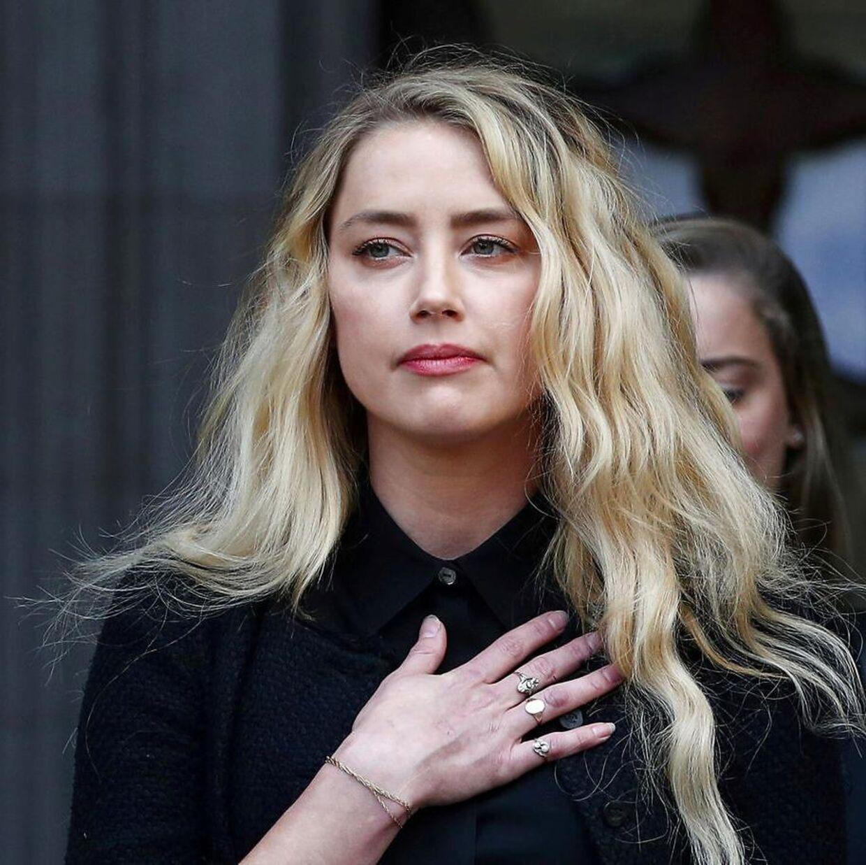 Amber Heard i forbindelsen med retssagen.
