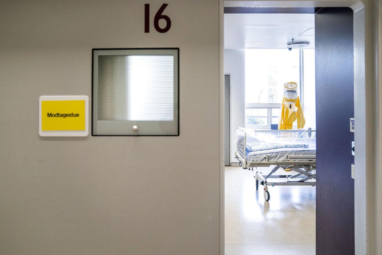 (ARKIV) En stue til coronapatienter på Hvidovre Hospital. (Foto: Ida Marie Odgaard/Ritzau Scanpix)