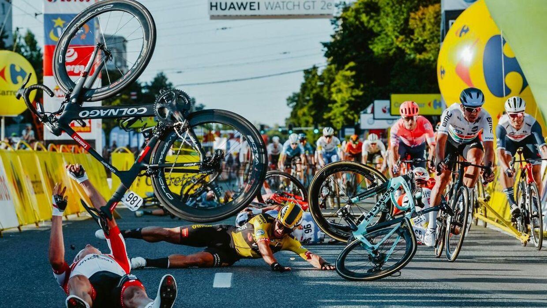 Det voldsomme styrt skete på 1. etape af Polen Rundt i begyndelsen af august.