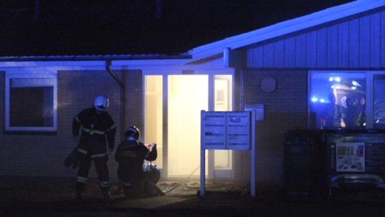 Midt- og Vestsjællands Politi fik anmeldelsen om branden klokken 01.47 natten til fredag, oplyser kommunikationsmedarbejder Charlotte Tornquist. Foto: Mathias Øgendahl.