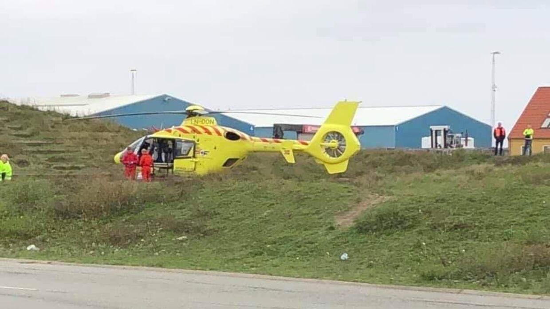 Ulykken skete kort før klokken 08.00 tirsdag morgen på Overdrevsvej ved Fredens Alle. Foto: Mathias Øgendahl.