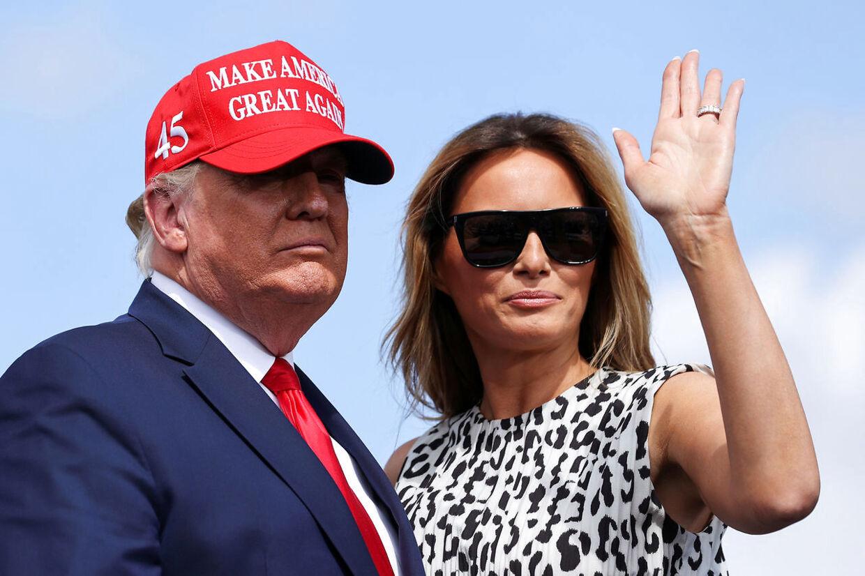 Trump-parret fotograferet under valgkampen.