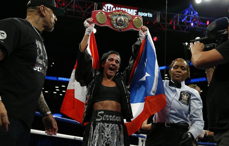 Amanda Serrano er en ægte superstjerne i professionel boksning, men nu er kampen mod Mahfoud aflyst. (Reuters / Andrew Couldridge)
