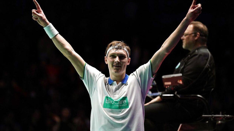 Axelsen efter sin All England-triumf.