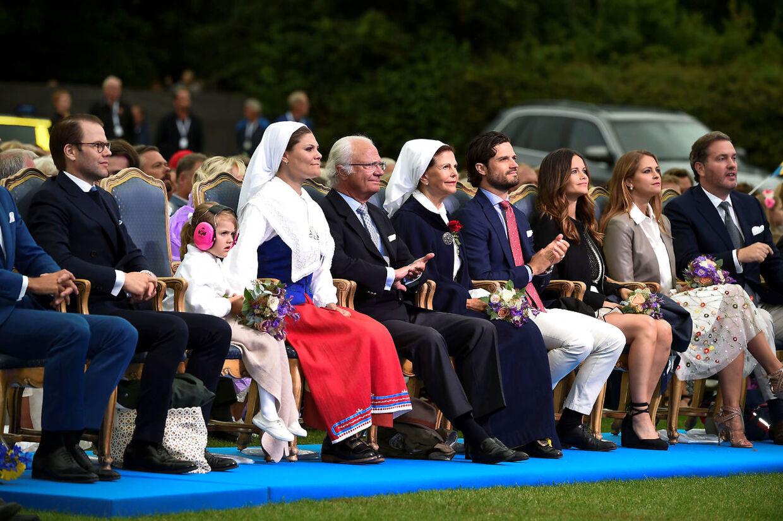 Den svenske kongefamilie på Victoriadagen i 2016. Stort set hvert år fejrer kornprinsesssen sin fødslesdag på Øland med musik og fejring af sportsstjerner.