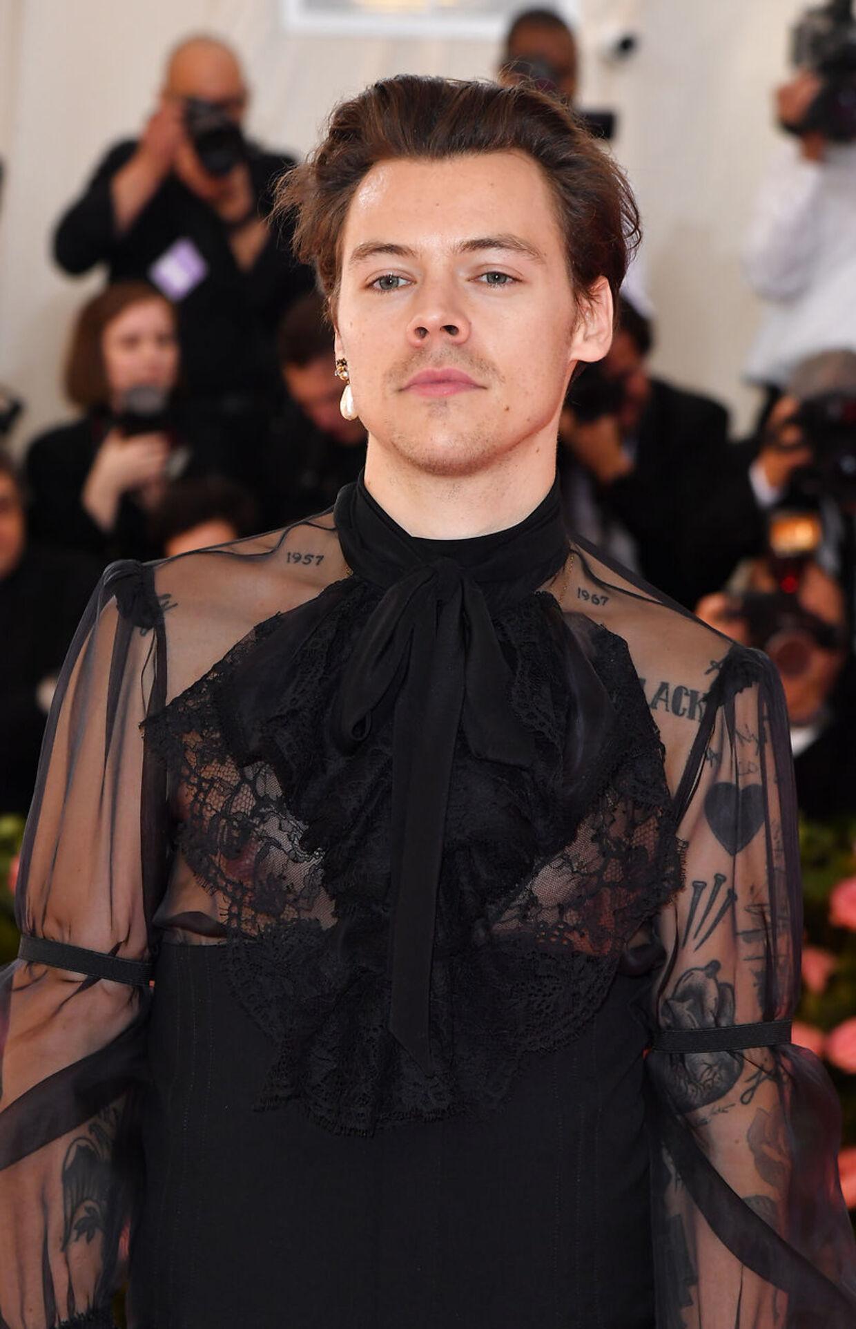 Harry Styles til gallafest i Metropolitan Museum of Art i maj 2019, i New York. Foto ANGELA WEISS / AFP