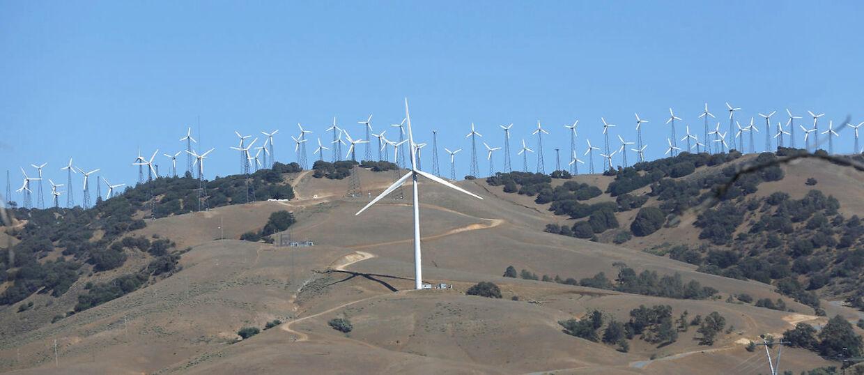 En vindmøllepark i Californien.