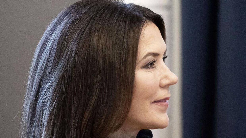 Kronprinsesse Mary fik kiggetr nærmere på forskellige projekter om FN på UNESCO's Verdensmålsskole Roskilde Gymnasium.