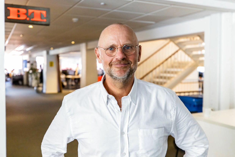 Portræt billeder af Henrik Qvortrup på BT redaktionen. August 2020
