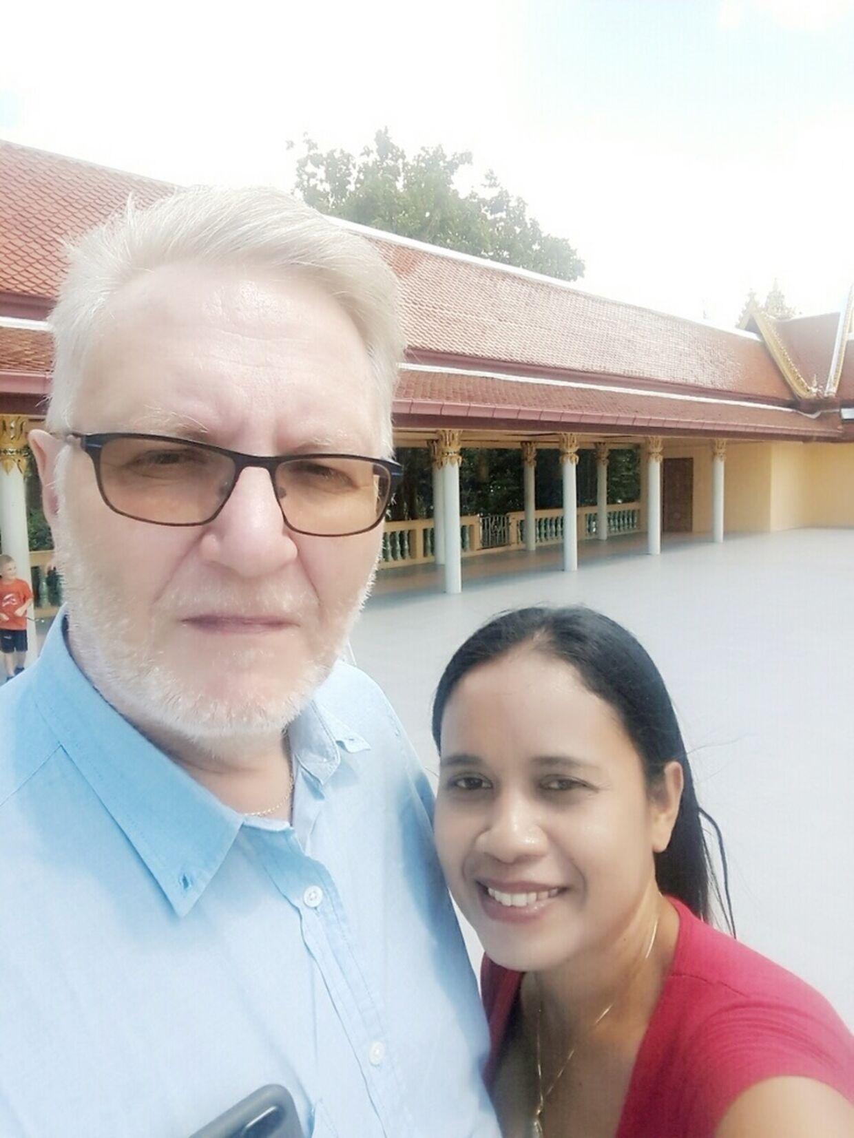 Geert Clemmensen og kæresten Somsri Sae-Law.