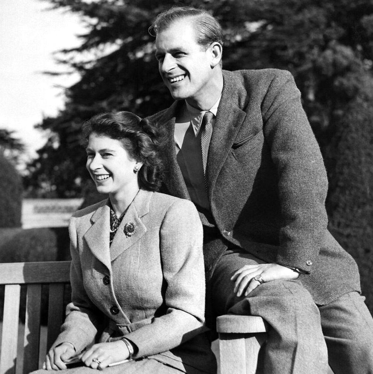 Her parret under deres bryllupsrejse i 1947.