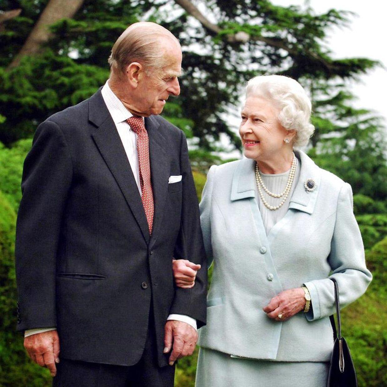 Parret fotograferet i 2007 i Broadlands i anledning af deres 60-års bryllupsdag.