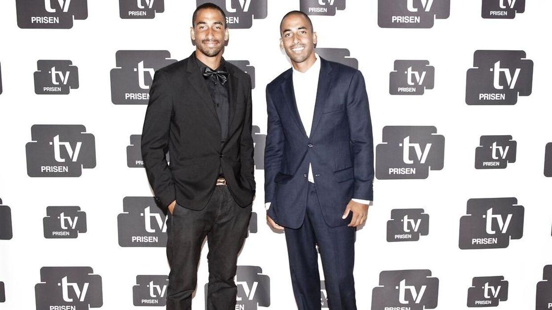 Jonathan og Simon Richter til tv-prisen i 2013.