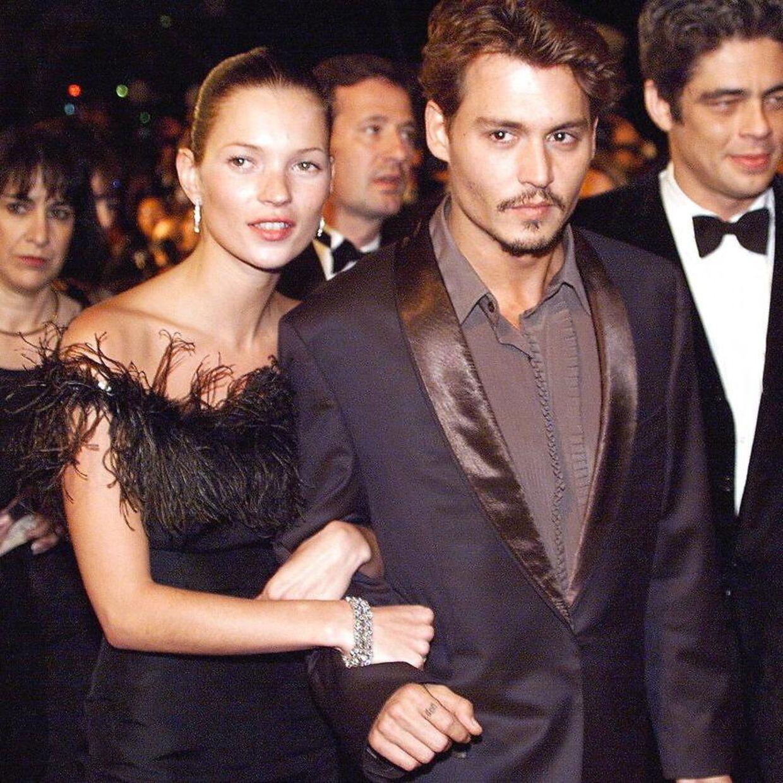 Johnny Depp dannede for en stund par med Kate Moss, der på daværende tidspunkt var på vej til at blive verdens største supermodel.