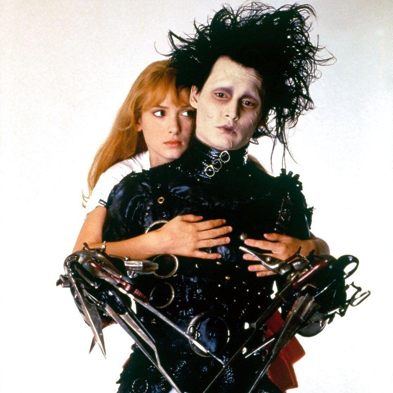 Sådan så Winona Ryder og Johnny Depp ud i 'Edward Scissorhands'.