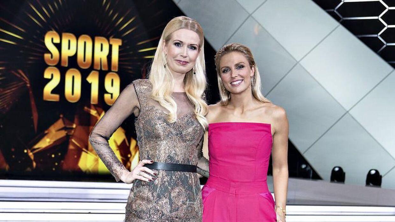 Tina Müller (tv.) var i januar vært ved 'Sport 2019' sammen med Josefine Høgh.