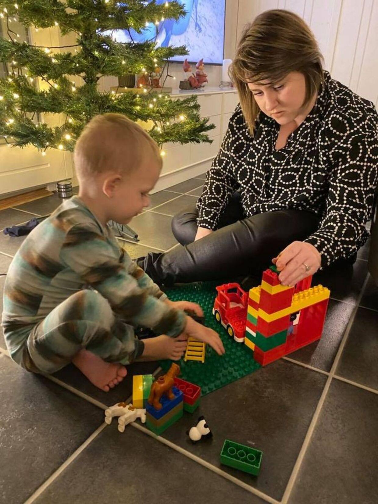 Det blev over to ugers mareridt, da Josefine Lensvolds søn fik skoldkopper som 1-årig. Privatfoto.