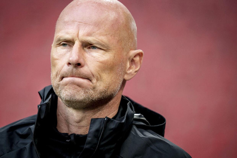 FC Københavns cheftræner, Ståle Solbakken, før Superliga-kampen mellem FC København og AGF i Parken i København søndag 19. juli 2020. Kampen ender 2-4 til AGF. (Foto: Mads Claus Rasmussen/Ritzau Scanpix)