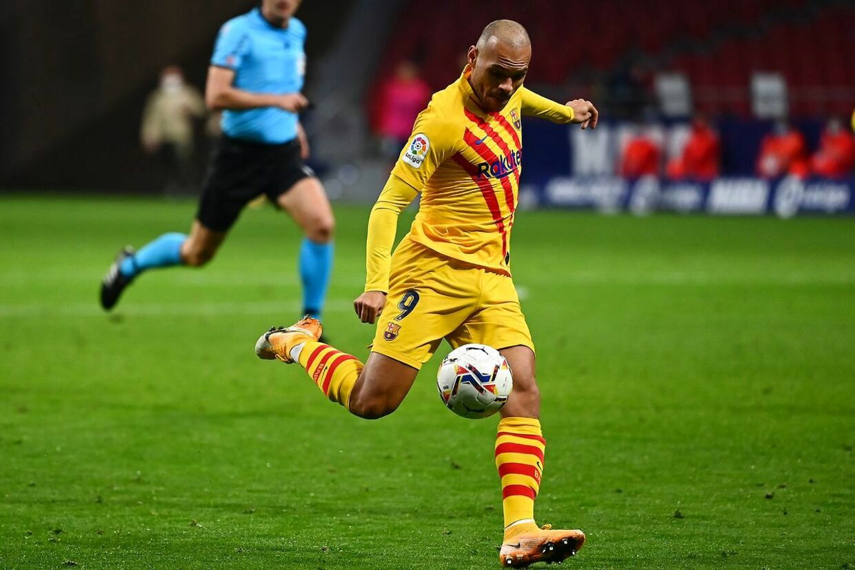 Martin Braithwaite fik syv minutter på banen under lørdagens nederlag til Atlético Madrid.