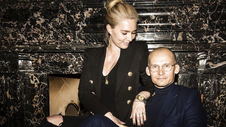 Arkivfoto af Alice Stadil sammen med sin mand, Christian.