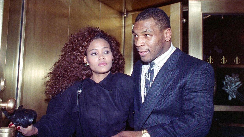 Robin Givens og Mike Tyson.