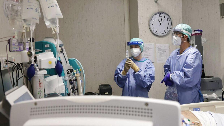 ARKIVFOTO fra en coronaafdeling på et hospital.