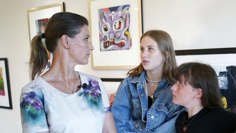 Märtha Louise med sin døtre Leah Isadora Behn og Emma Tallulah.
