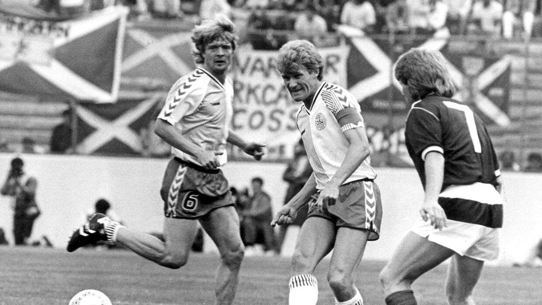 Morten Olsen under VM i 1986 i Mexico.