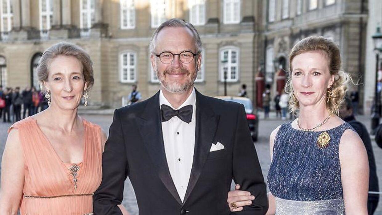 Prinsesse Alexandra af Berleburg (tv.) med Michael Ahlefeldt-Laurvig-Bille og prinsesse Nathalie af Berleburg.